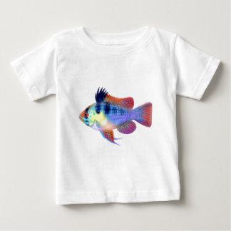 Tyska blått rammar cichliden t-shirt