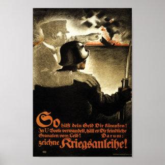Tyska för köpkrig för propaganda WW1 förbindelser Poster