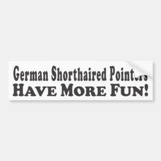 Tyska Shorthaired pekare har mer roligt! - Bumpe Bildekal