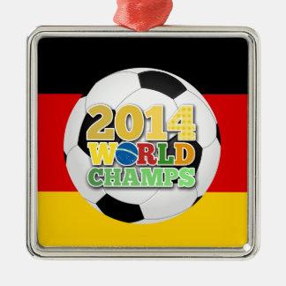 Tyskland 2014 för världsmästareboll julgransprydnad metall