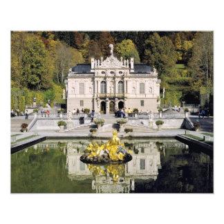 Tyskland Bayern, Linderhof slott. Linderhof Fototryck