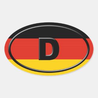 Tyskland - Deutschland - europé Ovalt Klistermärke