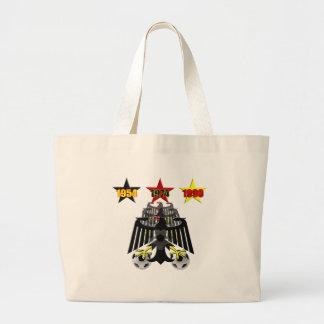 Tyskland Emblem 1954 1974 1990 vinnaregåvor Jumbo Tygkasse