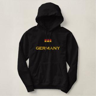 Tyskland flagga broderad luvtröja