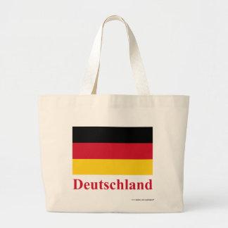 Tyskland flagga med namn i tysk tote bags
