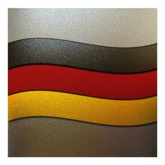 Tyskland flaggaFärg-Krom Konstfoto