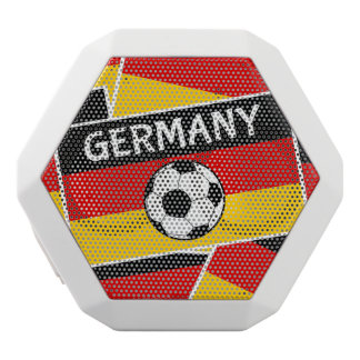 Tyskland flaggafotboll vit bluetooth högtalare