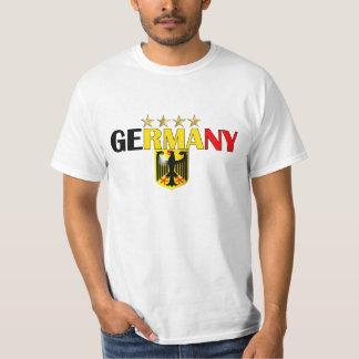 Tyskland fyra - stjärnafotboll kämpar för 2014 t shirts