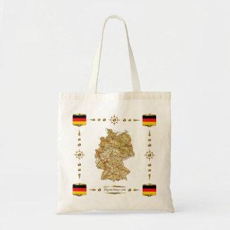 Tyskland karta + Flaggor hänger lös Budget Tygkasse