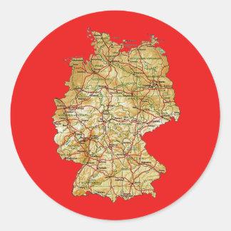 Tyskland kartaklistermärke runt klistermärke