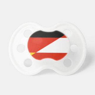 Tyskland-Österrike flagga Napp