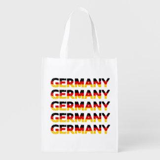 Tysklanda nationfärger för Grunge Återanvändbar Påse