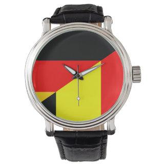 tysklant symbol för Belgien halvt flaggaland Armbandsur