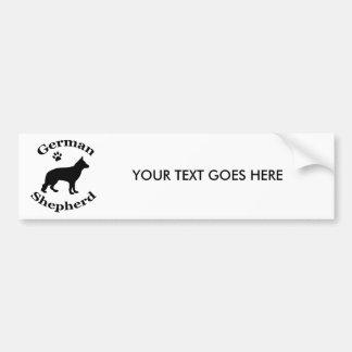 Tyskt tryck för tass för silhouette för herdehunds bildekal