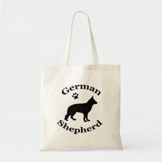 tyskt tryck för tass för silhouette för tygkasse