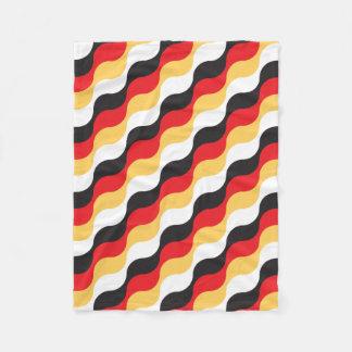tyskt vinka för flagga fleecefilt