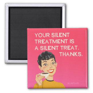 Tyst behandling, rolig vintage från bluntcard.
