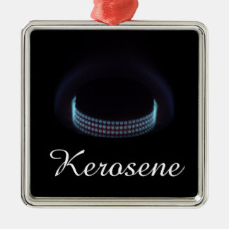 Tyst Kerosene för gasbrännare | pressar ugnen Silverfärgad Fyrkantigt Julgransprydnad