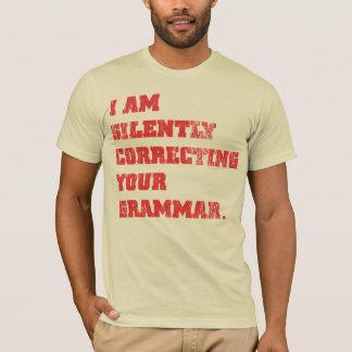 Tyst korrigering t-shirts