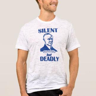 Tyst men dödligt t shirts