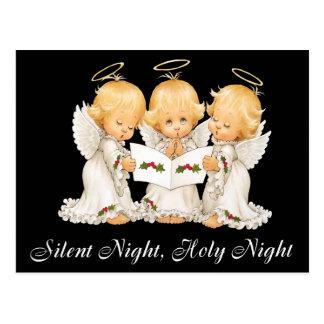 Tyst natt för söt änglar vykort