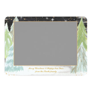 Tyst natt - fotojulkort 12,7 x 17,8 cm inbjudningskort