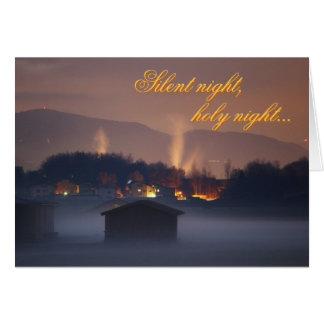 Tyst natt helig natt hälsningskort