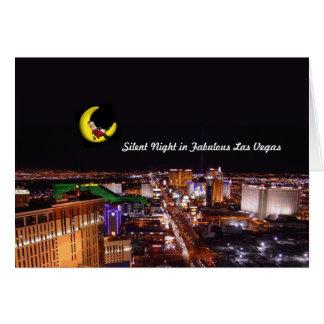 Tyst natt i det Las Vegas kortet Hälsnings Kort