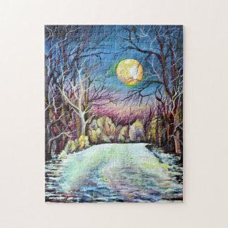 Tyst nattvinterfullmåne i sverige pussel