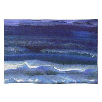 Tyst undra surfa för natthavstrand bordstablett