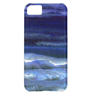 Tyst undra surfa för natthavstrand iPhone 5C fodral