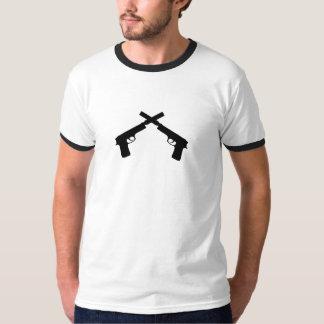 tystade pistoler t shirts