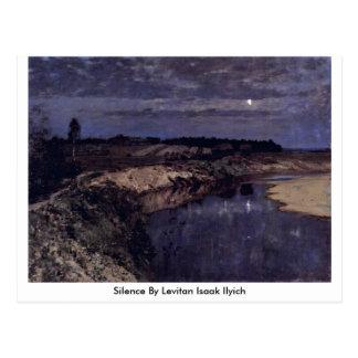Tystnad av Levitan Isaak Ilyich Vykort
