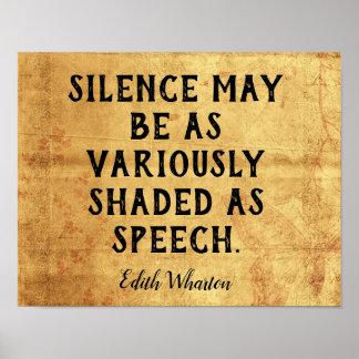 Tystnad  -- Edith Wharton för Poster