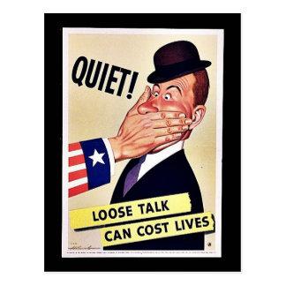 Tystnad! Vykort