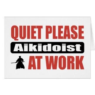 Tystnaden behar Aikidoist på arbete Hälsningskort