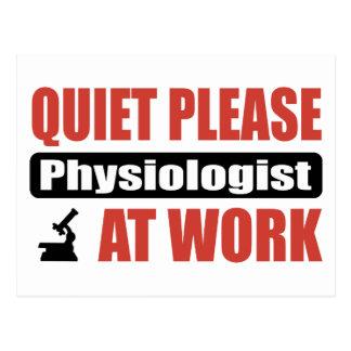 Tystnaden behar physiologisten på arbete vykort