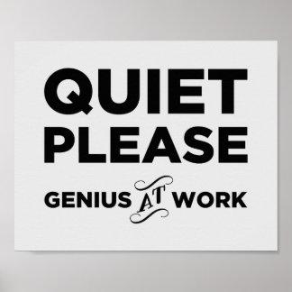 Tystnaden behar snille på arbete poster