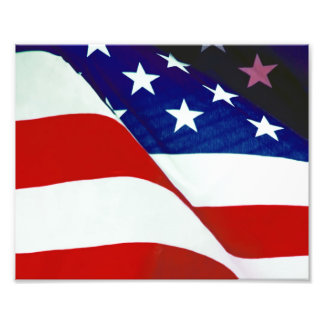 U.S.A. Flagga Fototryck