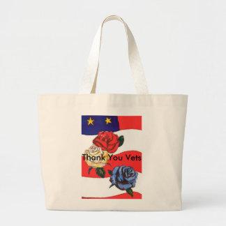 "U.S.A. Flaggaro röd vit & blått "" tackVets "", Jumbo Tygkasse"
