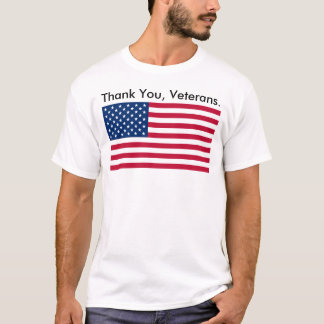 "U.S.A. - ""Tack, veteran."", - T-tröja T Shirt"