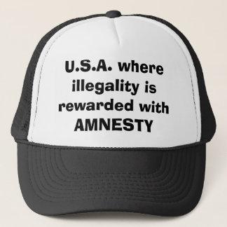 U.S.A. var illegality belönas med AMNESTI Truckerkeps