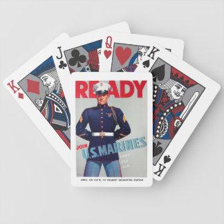 """U.S. Affisch för marinkorpralvintage""""redo"""" Spelkort"""