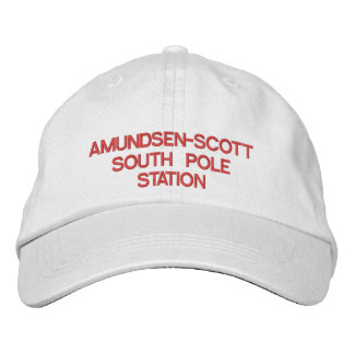 U.S. Amundsen-Scott södra Pole stationhatt Broderad Keps