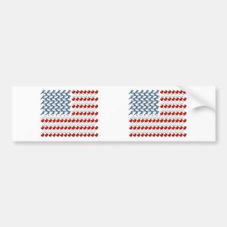 U.S. Flagga av fåglar Bildekal