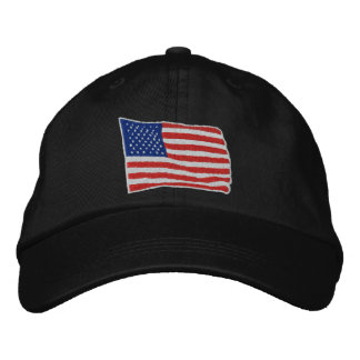U.S. Flagga broderade hatten Broderad Keps