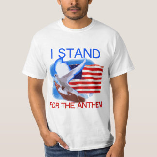 U.S. Flagga och duva som jag står för Tröjor