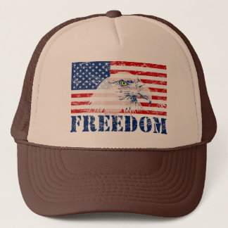 U.S. Flagga- & örnFRIHETShatt Keps