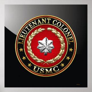 U.S. Flottor: Lieutenant Överste (USMC LtCol) [3D] Poster