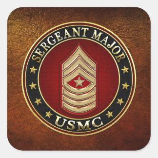 U.S. Flottor: Sergeant Ha som huvudämne (USMC Fyrkantigt Klistermärke